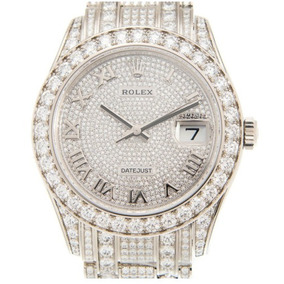 Rolex Pearlmaster 18k White Gold With Diamond Silver Automat