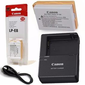 Bateria Para Camera Fotografica Canon Lp-e8 Com Carregador