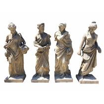 Esculturas As Quatro Estações Em Pedra De Rocha