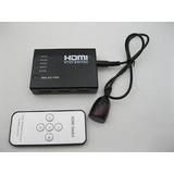 Switch Selector Hdmi 5x1 C/control Remoto 1.4 1080p Fact A