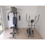 Estação Musculação 2001 Compact + Elliptical 3 Athletic