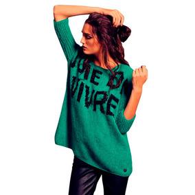 Sweater Pullover Tejido En Lana Suave Florencia Llompart