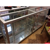 Remato Vitrina Mostrador Aluminio 2 Metros