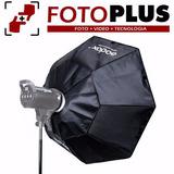 Softbox Octogonal 120 Cm Bowens P/ Nikon Canon Etc Fotoplus