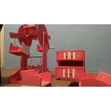 Armário,mesa,roda Gigante E Cadeiras De Madeira P Crianças