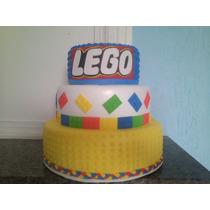 Bolo Fake Tema Lego