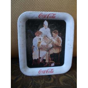 Antigüa Charola Pequeña De Coca-cola, De Los 40´s