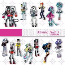 Kit Imprimible Monster High 42 Imagenes Clipart