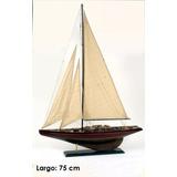 Velero Barco Madera Colección 75 Cm Decorativo Miniatura