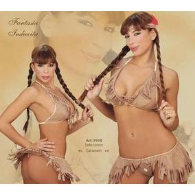Traje Disfraz Lencería Conjunto Sexy Fantasia Indiecita