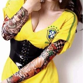 Tatuagem Falsa Manga Tattoo Sleeve Segunda Pele Tatoo Fake
