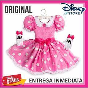 Disfraz Disney Mimi Minnie Mouse * C/guantes 5-6