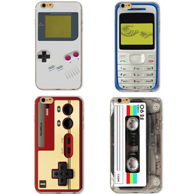 Funda Protectora Retro Celulares Iphone 4s 5s 6 Plus