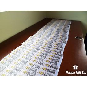 Etiquetas De Ropa Sublimadas(1000) Corte Electrónico