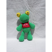 Muñeco Sapo Pepe Amigurumi Crochet
