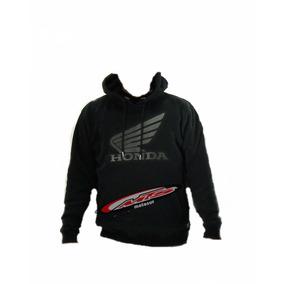 Buzo Canguro Honda Exclusivo Capucha Abrigo Negro Moto Sur