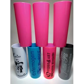 100 Copos Long Drink Rosa 350ml Personalizados