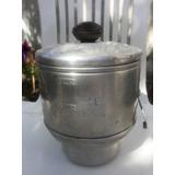 Antiguo Colador De Aceite De Aluminio
