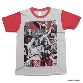 Camiseta Led Zeppelin   Camisa Personalizada Rock d543a4c04a336