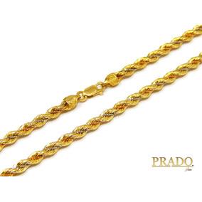 570e28d22b009 Colar De Ouro 18k Ouro Italiano 3 Cores - Corrente de Ouro Feminino ...
