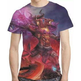 Camisa League Of Legends Camiseta Nasus Vs Renekton Inferna