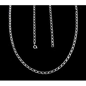 Corrente Semi Jóias Folheada Prata 950 Cordão Masculino Pc12