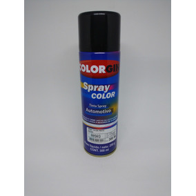 Tinta Spray Automotiva Colorgin Preto Brilhante 300ml