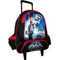 Mochila Escolar Infantil Com Rodinhas Max Steel