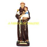 Escultura Santo Antonio Linda Imagem 40cm Estatua Fabrica Br