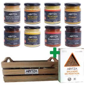 Cajita Gourmet 8 Aderezos Arytza Select + Salvado De Regalo
