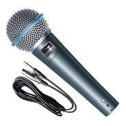 Microfono Dinamico Parquer Sn57b Profesional + Funda Cable