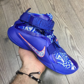Botas Zapatillas Nike Lebron Soldier 9 Azul Hombre Env Gr