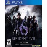 Resident Evil 6 Remastered Ps4 Original Nuevo Disco Fìsico