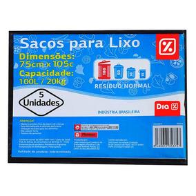 Sacos Para Lixo Dia Capacidade 20kg 100l 05un