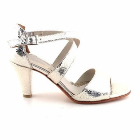Sandalia Cuero Mujer Briganti Vestir Zapato Taco Mcsd04540 C
