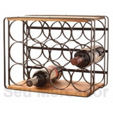 Rack Para 12 Garrafas De Vinhos Mesa Decorativo Sala Jantar