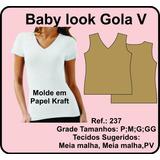 Molde Camiseta Baby Look Gola V 237
