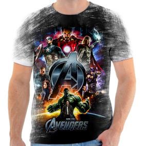 Camiseta Blusa Personalizada Avengers Vingadores Heróis Hd 8