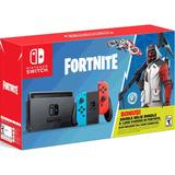 Nintendo Switch Neon + Juego Fortnite + Extras En Caja Nuevo