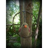 Colgante De Pajaritos Tejidos Crochet Artesanales Con Aro
