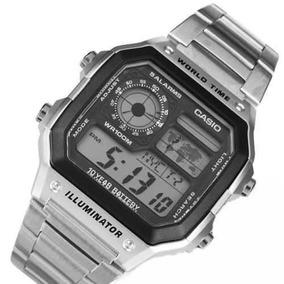 Reloj Casio Ae1200 5 Alarmas Mapa Zona Horaria 31 Zonas.