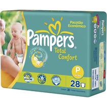 6 Pacotes De Fraldas Pampers Total Confort P C/ 28un Cada