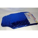 Cubre Alfombras Goma Auto 4 Piezas Universal Azul Tunning