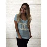 Camiseta Feminina Custumizada Estampa Bordada Pedrarias Luxo