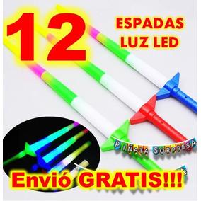 12 Espada Luz Sable Economico Juguete Piñata Premio Star War