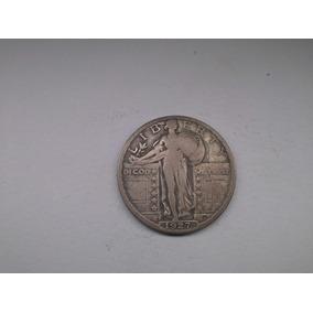 Moeda U.s.a Quarter Dollar 1927 S Prata