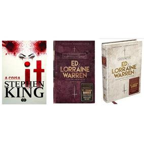 Livro It A Coisa + Lugar Sombrio + Ed E Lorraine Demonologis