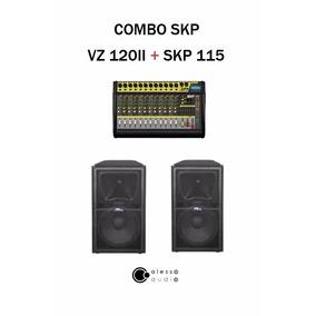 Combo Consola Potenciada Skp Vz 120ii + Bafle 15 Skp Sk 115