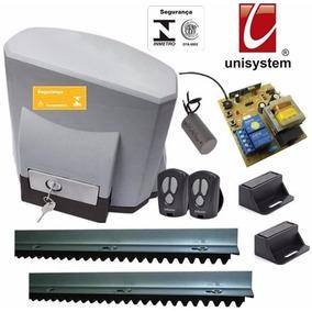 Kit Motor Portão Deslizante Titan 1/4 Hp Unisystem 110 Volts