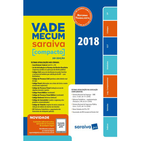 Vade Mecum Saraiva Compacto - Brochura - 20ª Ed. 2018